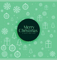 green christmas decorative pattern background vector image vector image