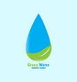 green water logo design vector image vector image