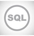 Grey SQL sign icon vector image vector image