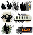 Grunge Jazz banners vector image vector image