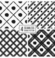 grunge seamless pattern black white diagonal vector image