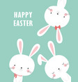 happy easter bunny vector image vector image