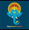 happy ganesh chaturthi festival greeting card vector image vector image