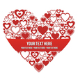 Heart with a banner vector image vector image
