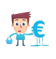 How to spend all the money on shopping vector image