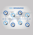 infographic design with web icons vector image vector image