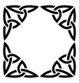 irish celtic square frame or border design vector image vector image