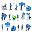isometric set businessmen and business ladies vector image vector image