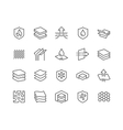 Line Layered Material Icons vector image vector image