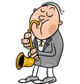 man with saxophone cartoon vector image vector image