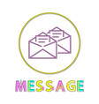 message mails in envelopes vector image
