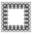 Modern style ornament in square shape vector image