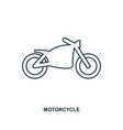 motorcycle icon outline style icon design ui vector image vector image