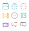 negative icons vector image vector image