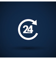 open 24 hours icon icon clock time delivery vector image