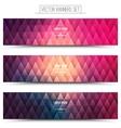 Pink Violet Web Banners Set vector image vector image