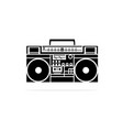 portable cassette player radio icon concept vector image