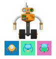 robot with radar and wheels vector image