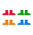 rubber boots set cartoon simple gumboots vector image