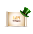 Saint Patrick Day card design vector image