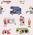 senior travel elderly family couple vector image