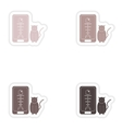 Set of paper stickers on white background mobile vector image vector image