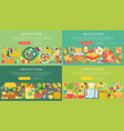 set trendy flat design concepts for food vector image vector image
