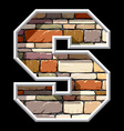 stone letter S vector image vector image