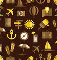 Summer seaside seamless background vector image