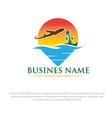 summer travel logo designs vector image vector image