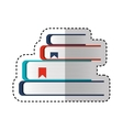 text book pile isolated icon vector image vector image