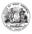 the official seal of the us state of west vector image vector image