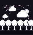 trees and clouds design vector image
