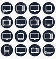 tv icons in flat style vector image vector image