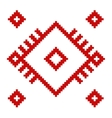 ukrainian ethnic folk pattern on white background vector image