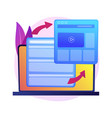 website responsive design development vector image vector image