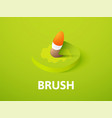 brush isometric icon isolated on color background vector image