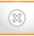 close web flat icon vector image