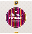 Happy birthday greeting card lettering on vector image