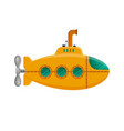 yellow submarine with periscope isolated on white vector image