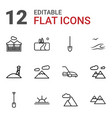12 landscape icons vector image vector image