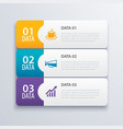 3 infographic tab index banner design and vector image vector image