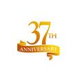 37 year ribbon anniversary vector image