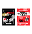 50 percent off on everything final sale for all vector image vector image