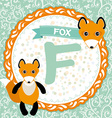 ABC animals F is fox Childrens english alphabet vector image vector image
