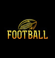 american football gold ball vector image vector image