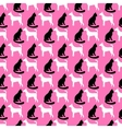 animal seamless pattern cat and dog vector image
