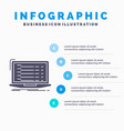 api app coding developer laptop infographics vector image vector image