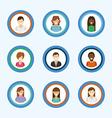 avatars people vector image vector image