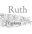 babe ruth biography